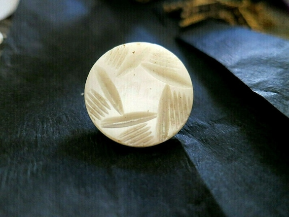 Pretty antique Edwardian carved mother of pearl  brooch