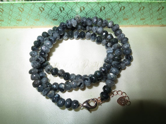 Lovely 6mm natural faceted Labradorite necklace 18-20""