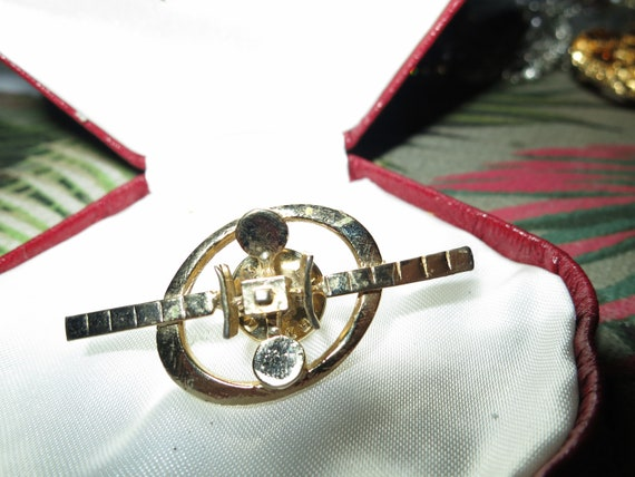 Lovely Unusal gold plated  Vintage space satellite  Pin / Brooch