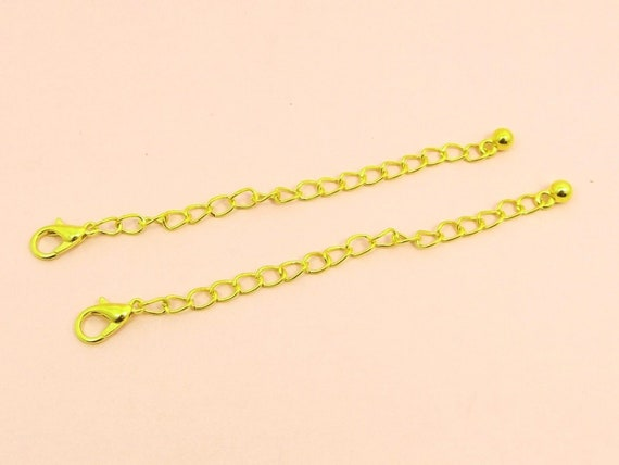 Gold plated Extender chain For Necklace or Bracelet 9 cm length
