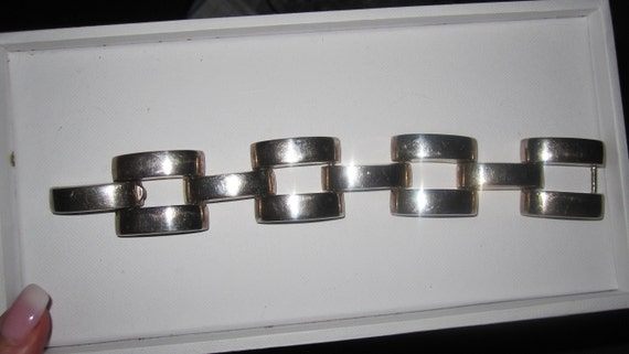 Vintage quality large link sterling silver chunky bracelet