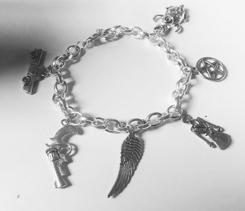 Supernatural inspired Charm Bracelet image 0