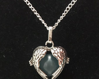 Shadowhunters inspired Angel Wings Heart Necklace