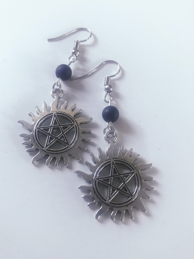 Supernatural inspired Anti Possession Earrings image 0