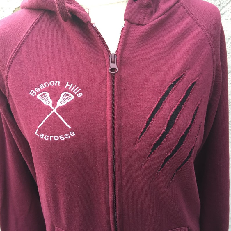 Teen Wolf inspired Lacrosse Hoodie  customized with any name image 0