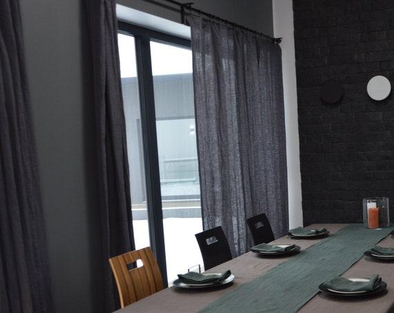 Handmade linen curtains / Custom size curtain / Soft linen curtains / 19 colors / Linen curtains