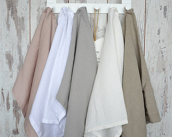 Linen towel / Pastel linen towel / Soft linen towels / Tea linen towel / Kitchen linen towels / Hand face towel / Guest linen towels