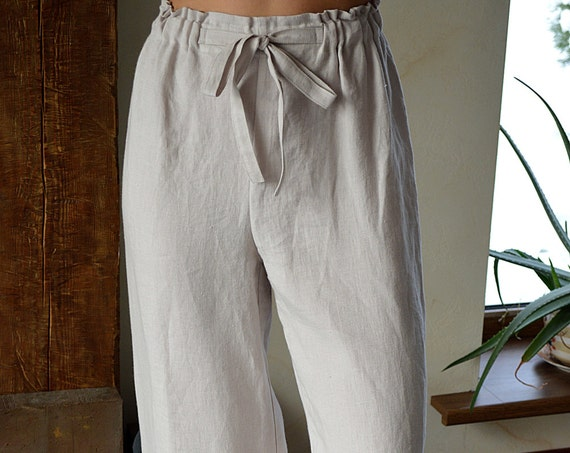 Linen pants - Linen Pajama Trousers - Women's Linen pants - Soft linen trousers - Woman Linen Pajama Pants