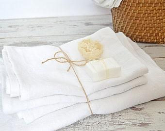 Linen towel set - Stonewashed linen towels - Soft linen towels - Bath and hand/face linen towel - Bathroom pure linen - Super soft linen