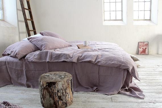Linen flat sheet / Linen bedding / Wood rose top sheet / Queen, king size sheets / Upper linen sheet /  100% linen bed sheet / Child's sheet