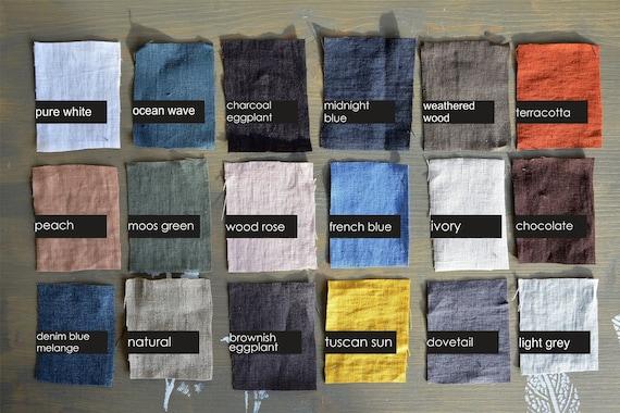 18 colors linen fabric / Half meter / Baltic linen fabric / Multi color linen fabric / Soft linen fabric / Stonewashed linen fabric