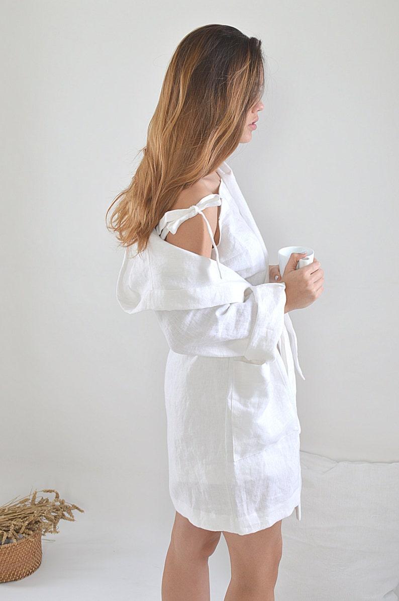Soft Linen robe   White linen bathrobe   Sizes XS-2XL    598ceff32