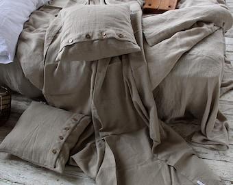 Queen and King sizes blanket - Linen bed cover - Summer Linen throw  blanket - Linen bedspread - Pure linen throw blanket