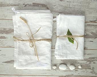 Off white linen bath towels / Bath and hand towels / face linen towels / Washed rough linen towels / Guest linen towels  / Bathroom towel