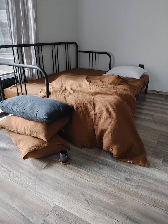 HEMP cinnamon duvet cover, 100%  Hemp bedding,  Softened hemp duvet cover
