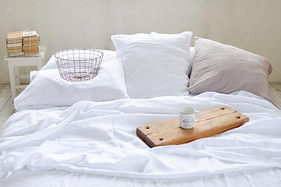 Linen duvet cover / 100% linen bedding / Stonewashed linen duvet cover / Pure white duvet cover / Child's linen bedding / Ecofriendly bed
