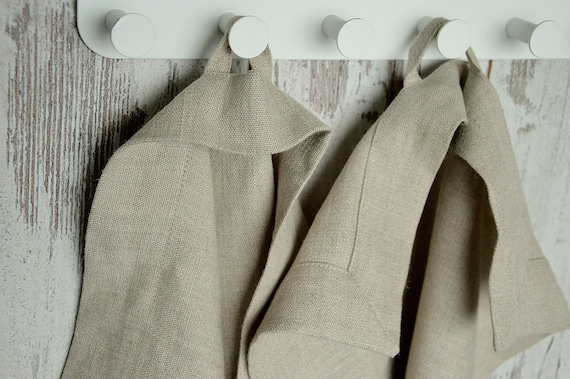 Luxury thick linen towels / Bathroom linen / Softened roughl linen towels / Mitered corners hand/face/tea towels / Washed 100% linen towels