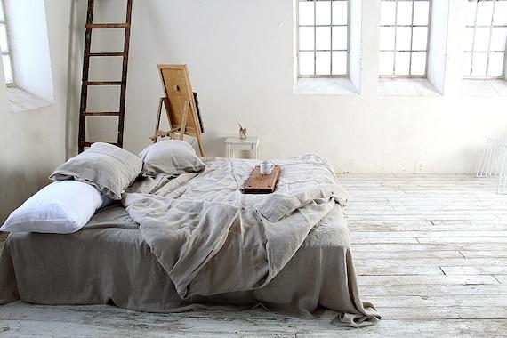 Linen flat sheet / Undyed linen sheet / Linen bedding / Top linen sheet / Queen, king sizes sheets / 100% linen bed sheet / Child's sheets