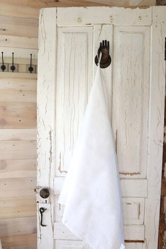 White Linen towel / Guest linen towel / Softened linen towel / Natural linen hand face towel / Pure linen tea towel / Baltic linen towel