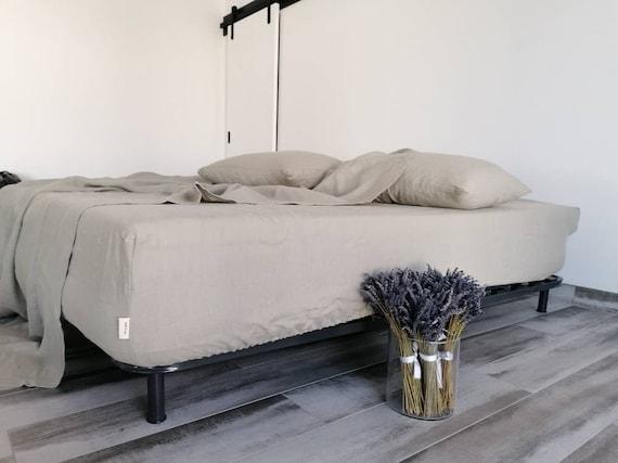 100% HEMP fitted sheet / Stonewashed hemp sheet / Natural hemp sheet / Queen King fitted sheet