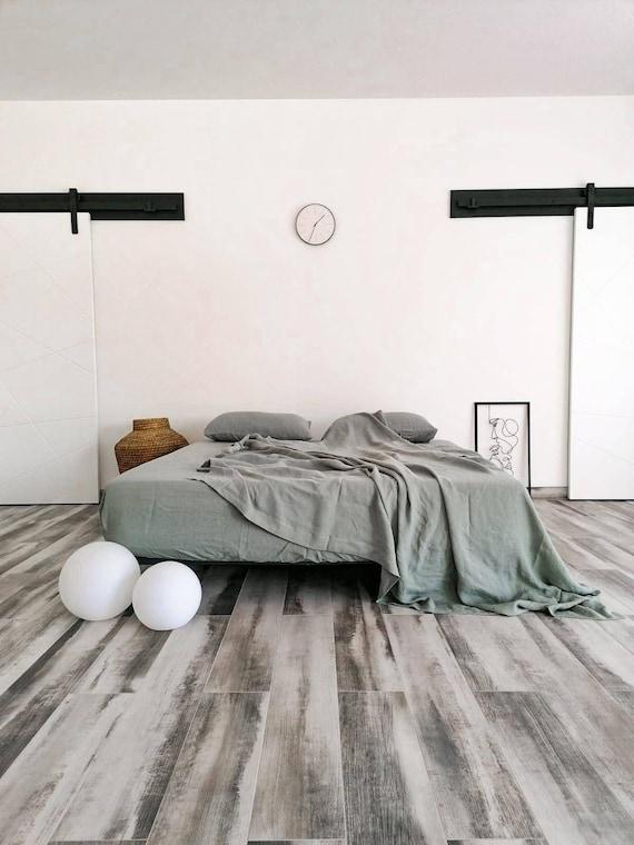 Olive Linen flat sheet / flat sheet / Queen, king sizes sheet / 100% linen bed sheet / Upper bed sheet / Child's flat linen sheet