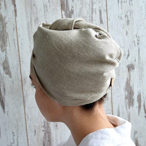 Linen hair turban / Unpainted linen turban / woman bath turban / Natural linen sauna / spa / shower / bath turban / Treat yourself !