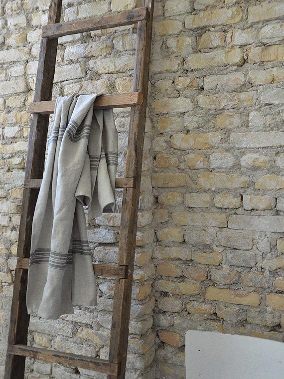 Bath thick linen towel / Heavy weight towel / Luxury towels / Striped linen towel / Bath towel / Soft linen towel / Guest towels