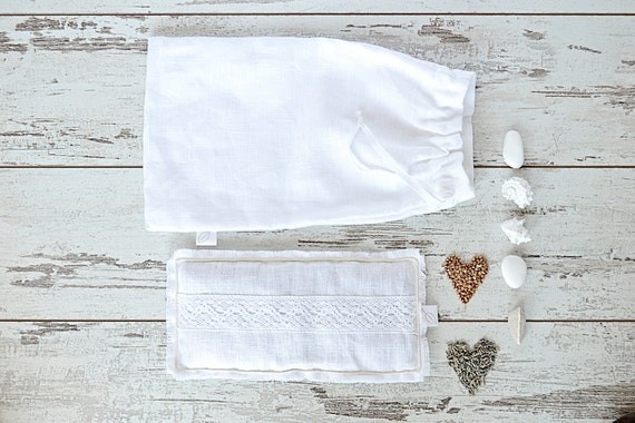 Relaxation eye pillow / Linen bag / Lavender meditation eye pillow / Linen bag / case / Pure linen eye pillow -/Treat yourself !