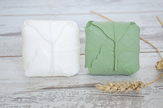 Handmade leaf soap / Natural goat milk soap / Guest natural soap / Gift soap / Soap with Wheatgerm oil / Handcrafted Soap