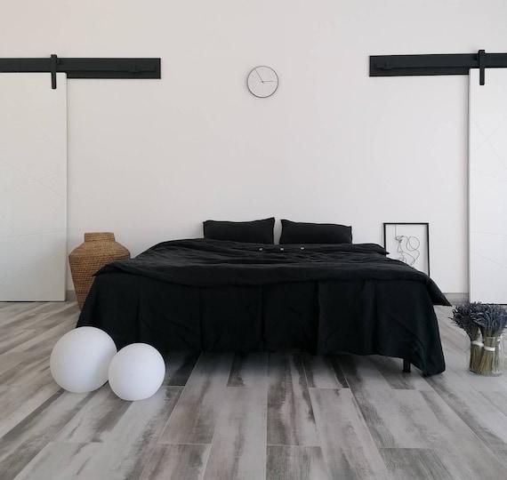 Deep black linen duvet cover / Linen bedding / 100% linen bedding /  Softened linen duvet cover /  duvet cover / Child's bedding