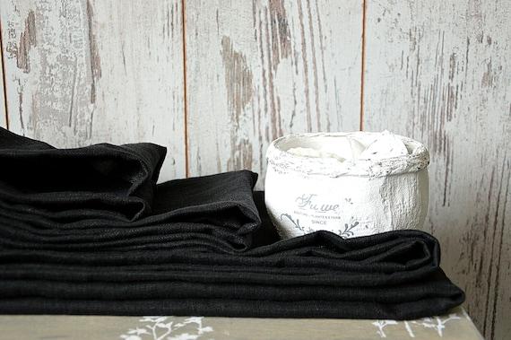 Thick linen towel / Deep black linen towels /  Simple hand / face / tea towels / Softened 100% linen  towels / Guest linen towels