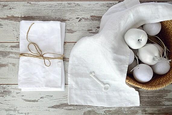 Traveling hand  linen towel / Small linen towel / Natural linen towel / Face hand linen towel / White linen towel / Linen