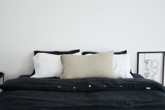 Softened 100 % HEMP pillowcase / Stonewashed bed pillowcases / Envelope closure pillow covers / Simple hemp pillowcase / Soft hemp bedding
