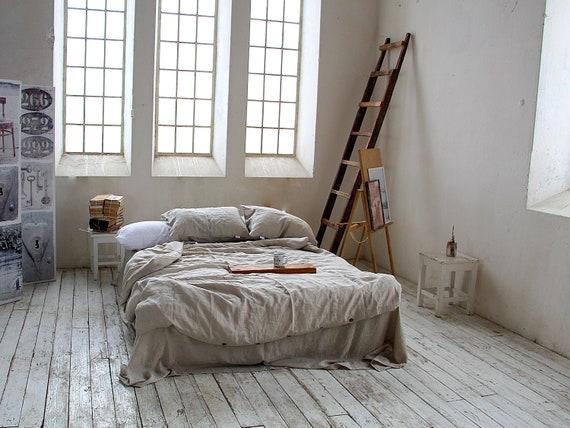 Linen duvet cover / 100% linen bedding / Softened linen duvet cover / Natural undyed duvet cover / Child's linen bedding / Stonewashed cover