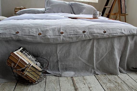Linen duvet cover / Linen bedding /  100% linen duvet cover / Softened linen duvet cover / Ash pearl melange / Child's linen duvet cover