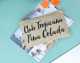 ISLAND VIBES Club Tropicana Clutch Bag | Linen Clutch Bag