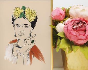 Frida Kahlo Inspired Print