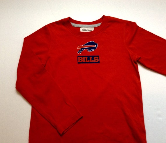 Buffalo Bills Inspired T-shirt Long Sleeve Red Size 6-7  9bc4864e0