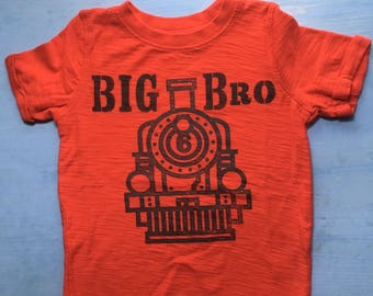 Big Brother Tshirt Red Train Engine 24 months