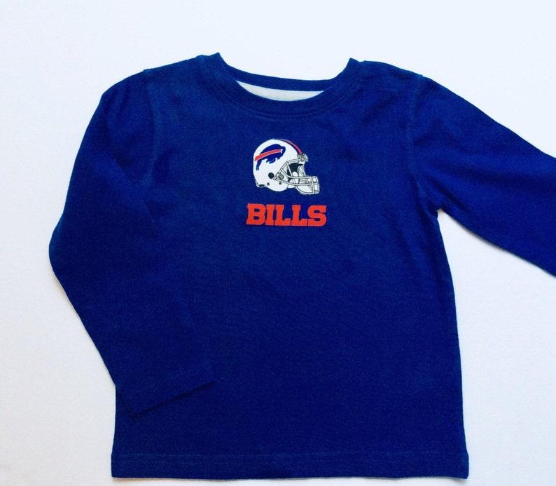new style b6726 33703 Buffalo Bills Inspired Shirt Blue Long Sleeve Sizes 3T-6 FREE SHIPPING
