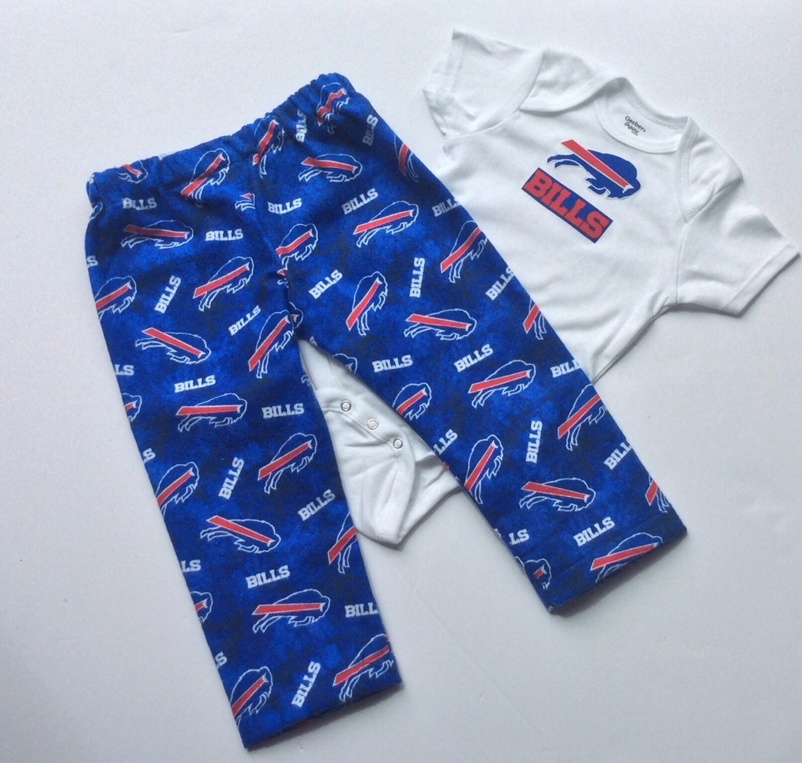 Available in 3 sizes Buffalo Bills Gerber Baby Onesie