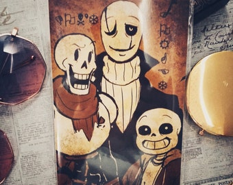 Undertale: Don't Forget | 4 x 6 Mini Print | Skeleton Family | Gaster, Sans, Papyrus