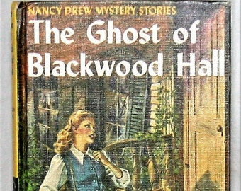 "Nancy Drew No25 ""The Ghost of Blackwood Hall"" Grosset & Dunlap Publishers Vintage 1948 Hard Cover Book by Carolyn Keene"
