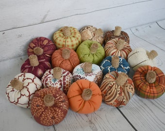 Primitive Purple Velvet Pumpkin*Autumn*Fall*Cupboard Tuck*Bowl Filler*Real Stem*
