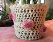 Polka dot Nipple Crochet Plant Pot Cover