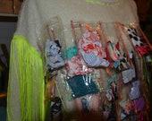 Scrap Fabric / Yarn Plastic Bags Sweater