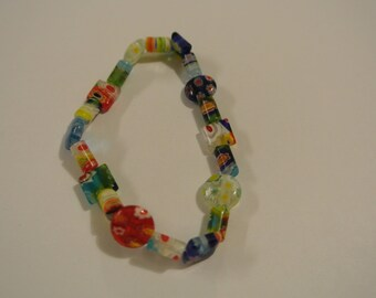Multi-Colored Beaded Stretch Bracelet