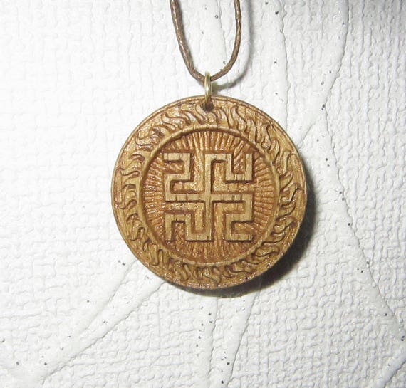 Rodovik Slavic amulet talisman Protection jewelry Birthday gift Swastika  Jewelry wood Unique gift Pagan jewelry Mystic jewelry Runes Tarot
