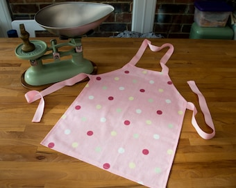 Children's Pink Polka Dot Apron