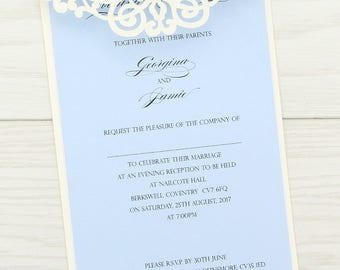 Sample * Ruby Laser Cut Evening Invitation